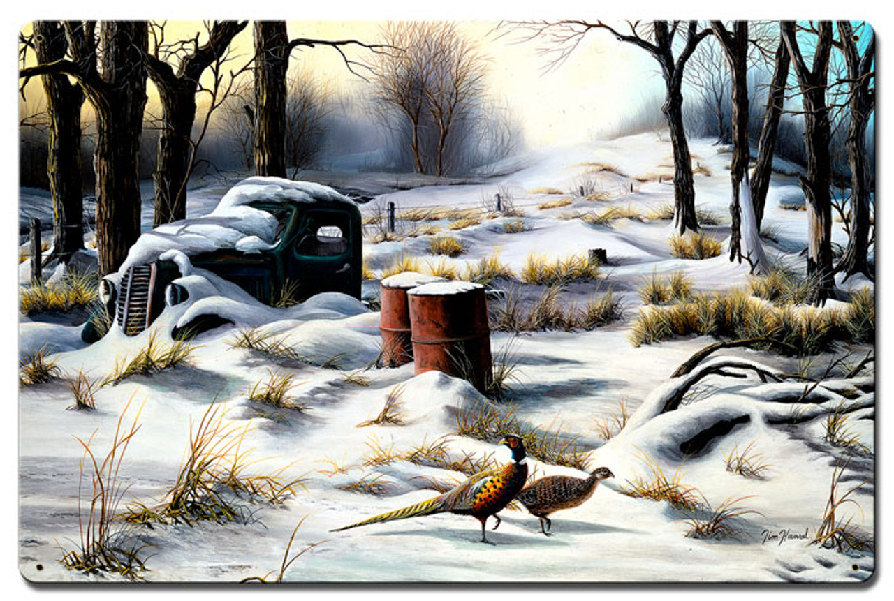Winter Retreat Metal Sign 16 x 24 Inches