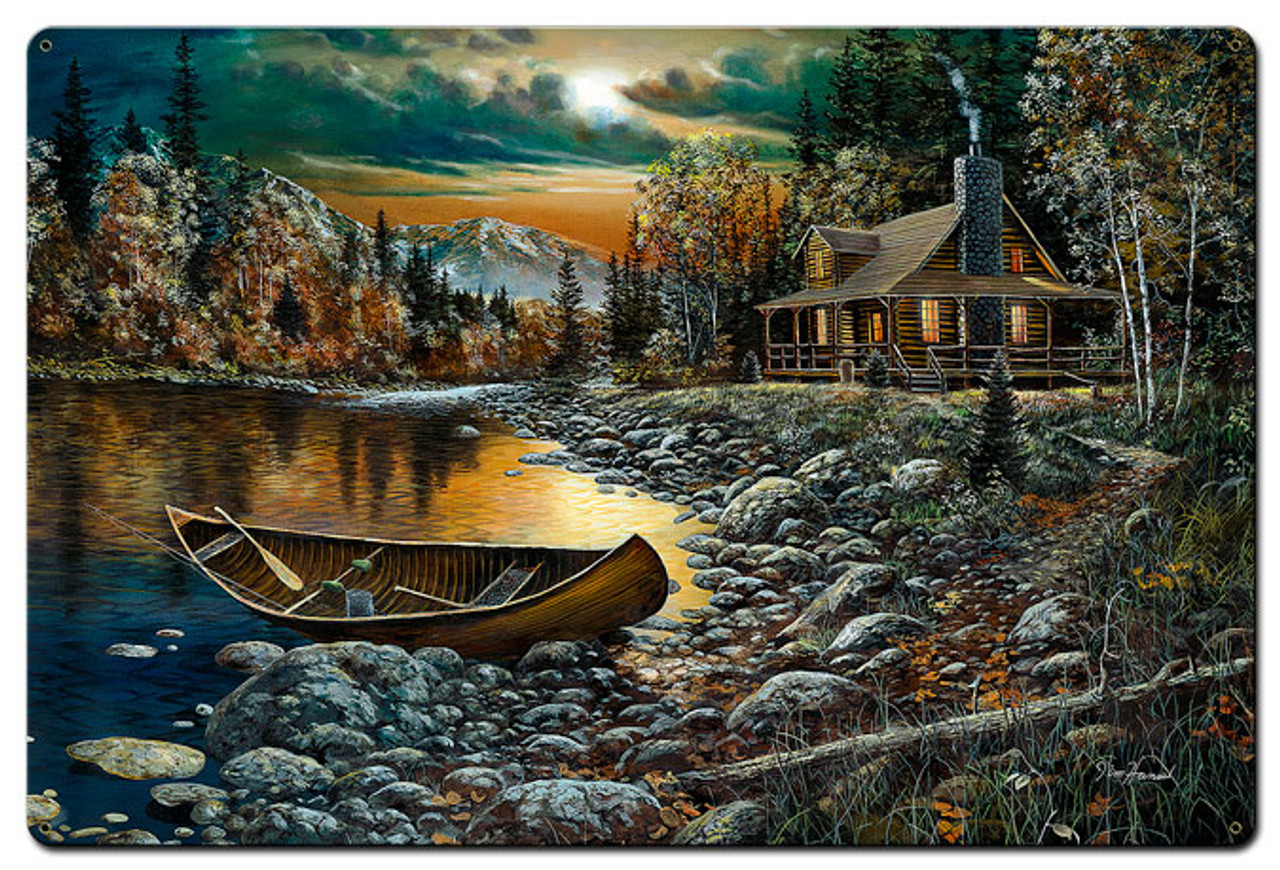 High Country Retreat Metal Sign 36 x 24 Inches