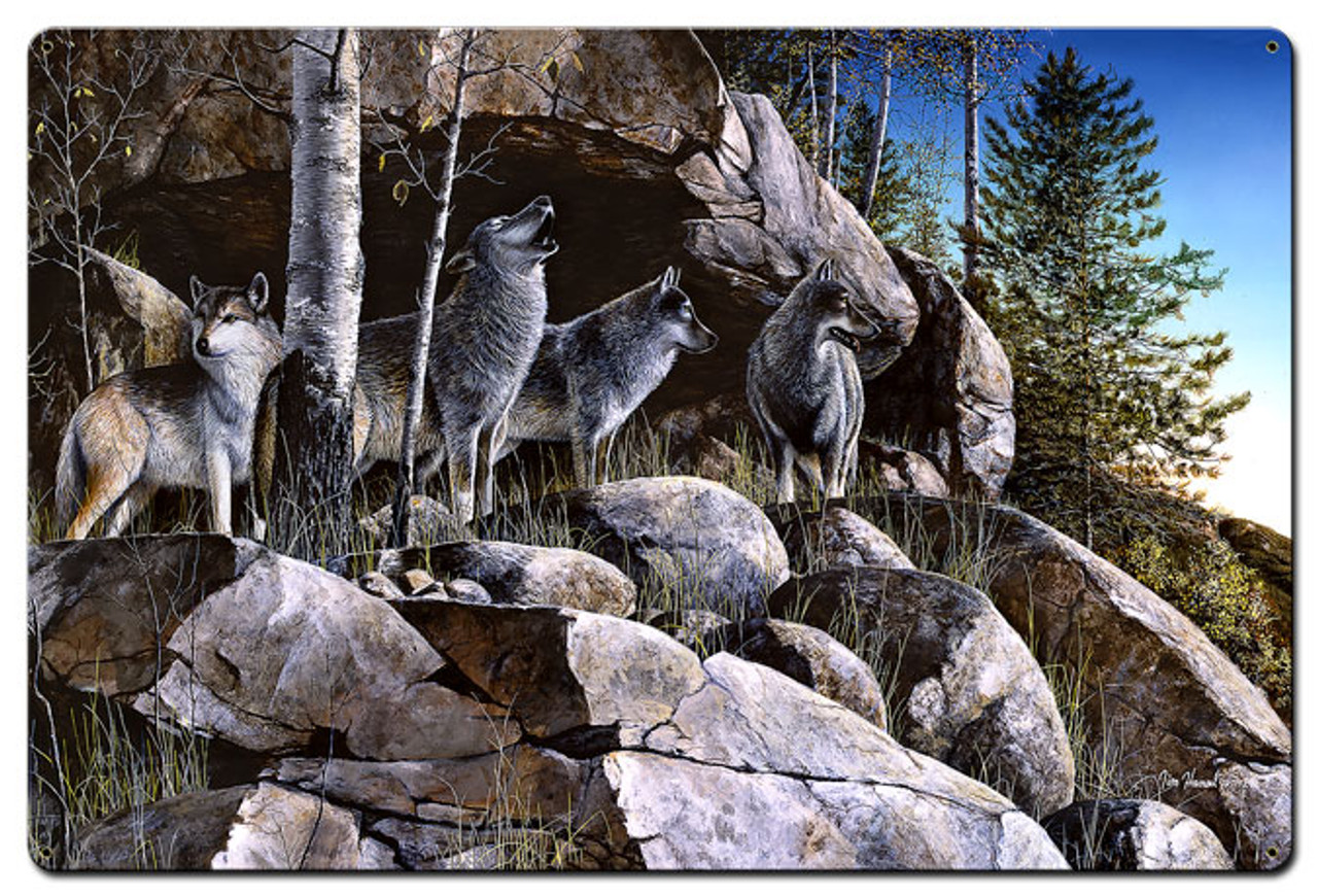 Rocky Outpost Metal Sign 24 x 36 Inches