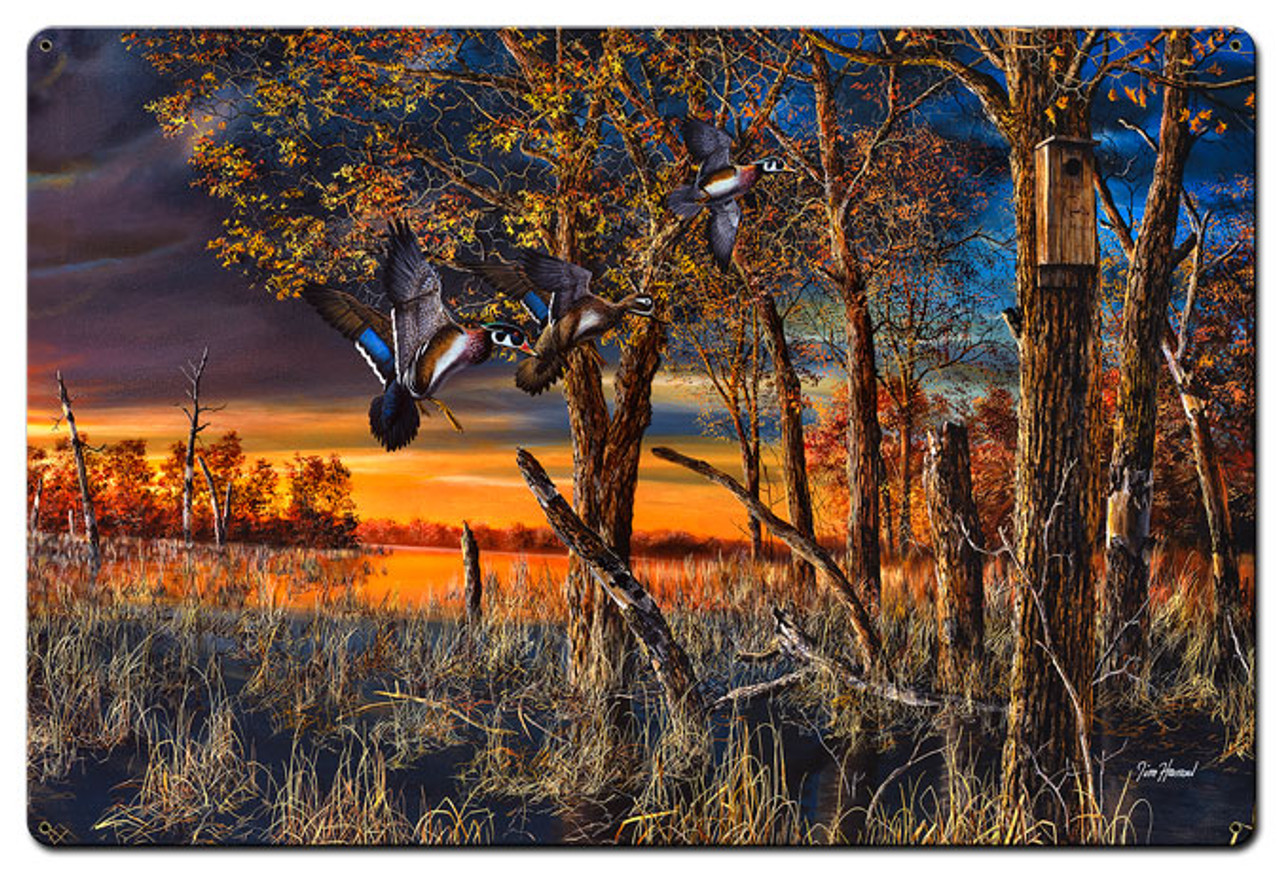 Return To The Refuge Metal Sign 24 x 36 Inches
