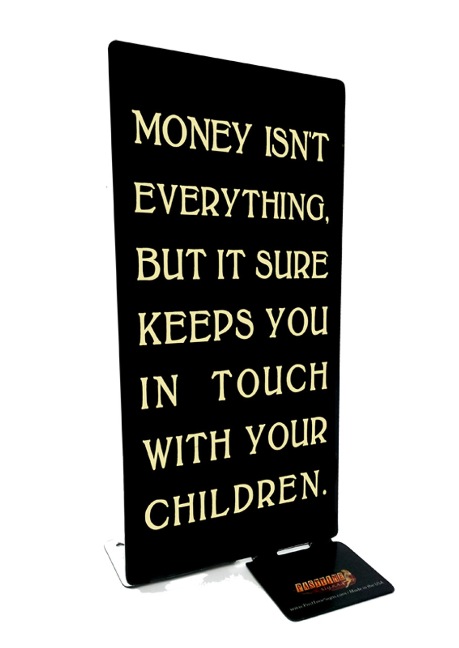 Money Children Table Topper 4 x 9 Inches