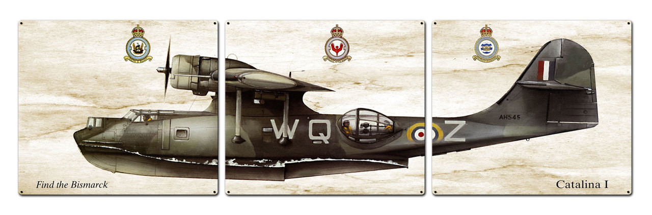 Catalina I Metal Sign 48 x 14 Inches