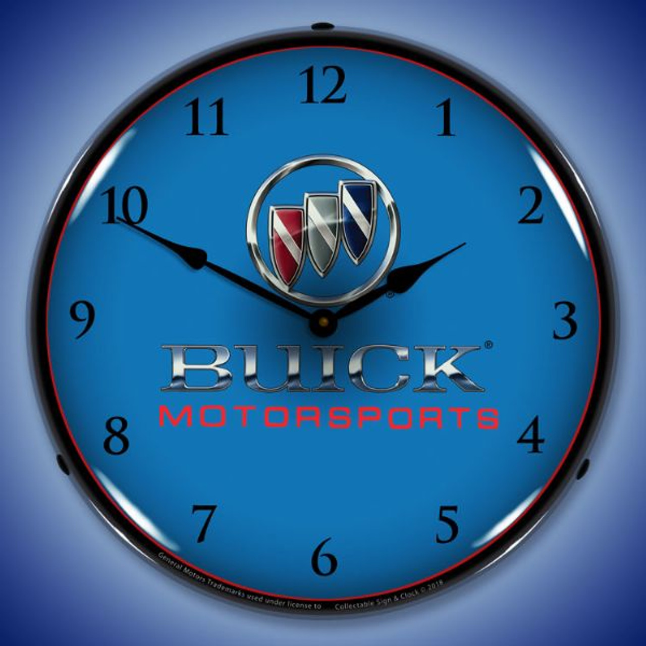 Buick Motorsports Lighted Wall Clock 14 x 14 Inches