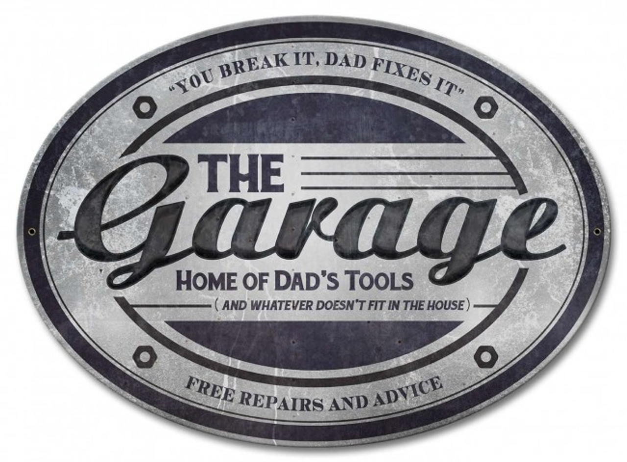 The Garage Metal Sign 18 x 13 Inches
