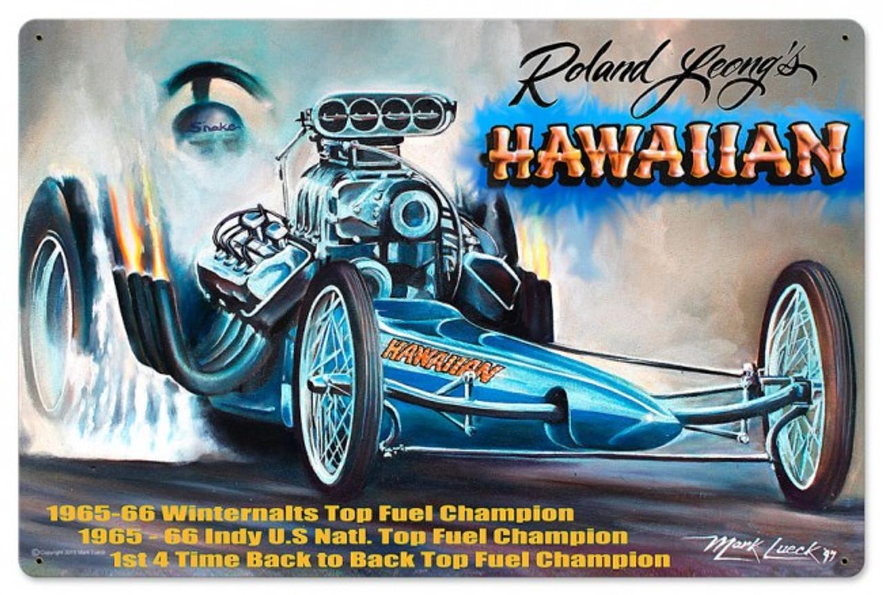 Hawaiian Metal Sign 24 x 16 Inches