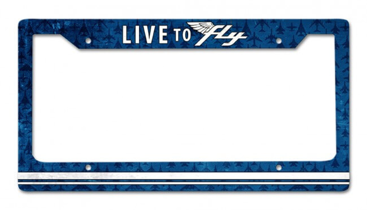 Live To Fly License Plate Frame 12 x 6 Inches
