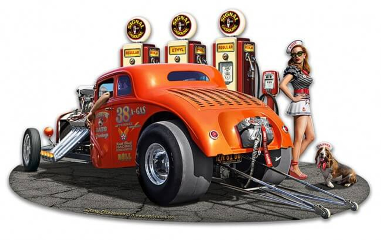 1933 Willys Filler-up Metal Sign 18 x 15 Inches