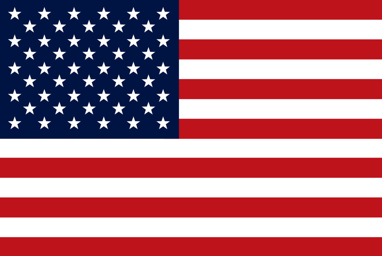 USA Flag Metal Sign 36 x 24 Inches