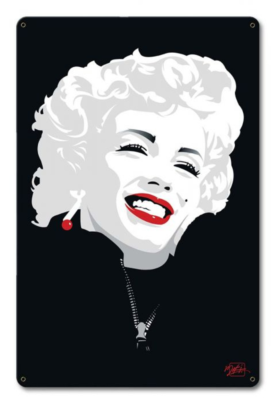 Miki Marilyn Monroe Metal Sign 12 x 18 Inches