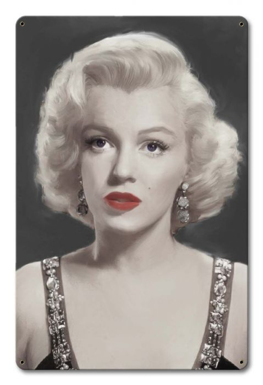 Marilyn Monroe Musing Metal Sign 12 x 18 Inches