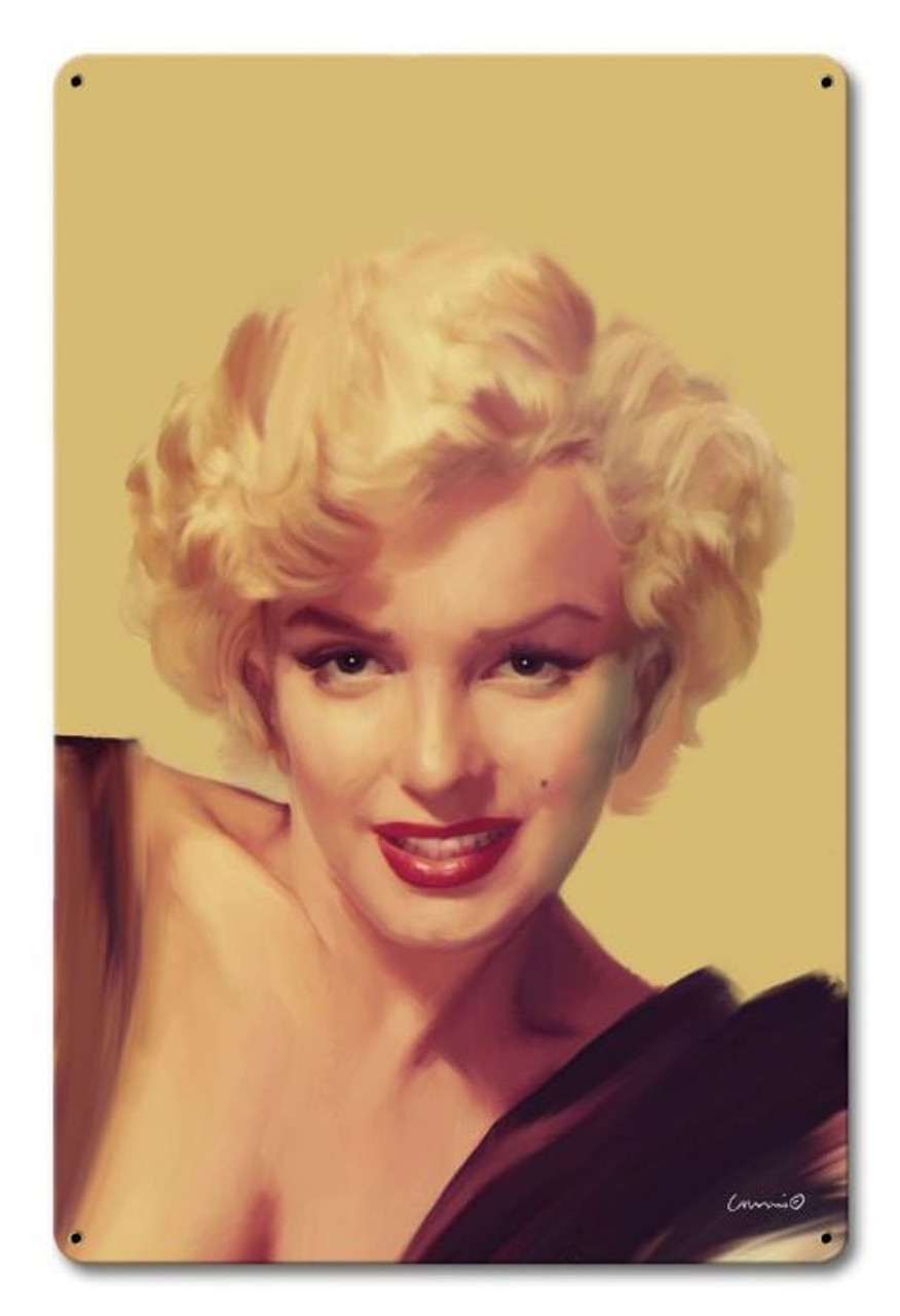 The Look Gold Marilyn Monroe Metal Sign 12 x 18 Inches