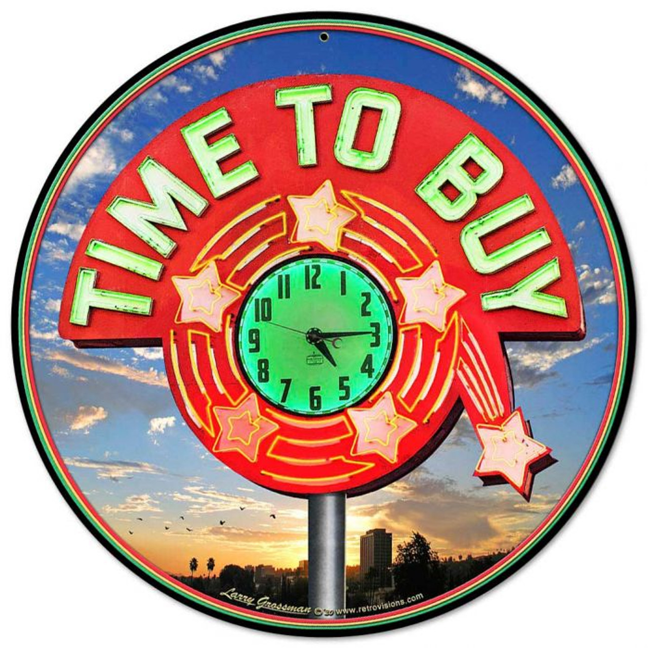Time To Buy Metal Sign 14 x 14 Inches