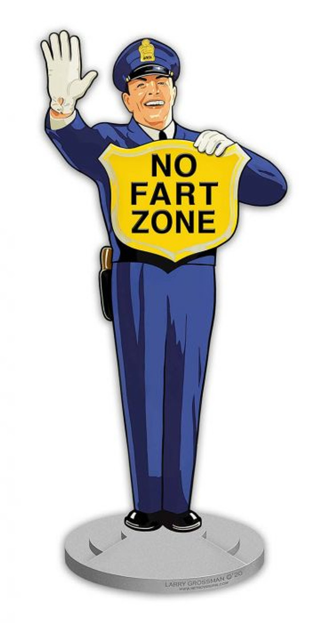 Guard No Fart Zone Metal Sign 12 x 28 Inches