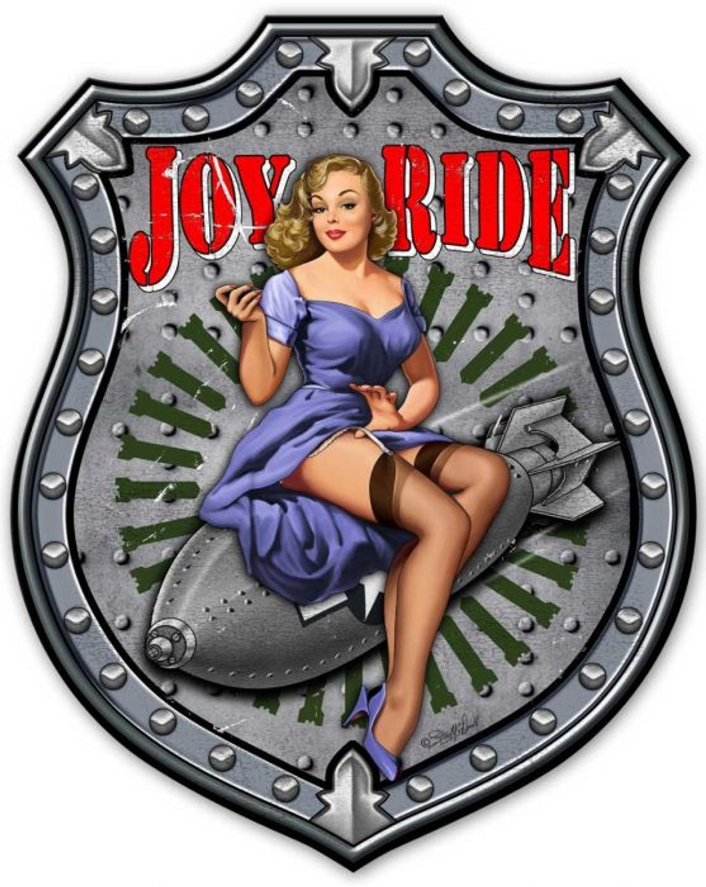 Joy Ride Metal Sign 38 x 48 Inches