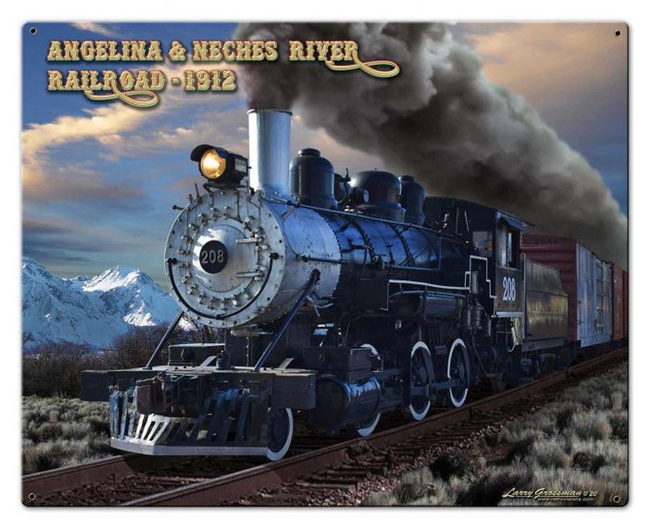 A&NR Train Metal Sign 30 x 24 Inches