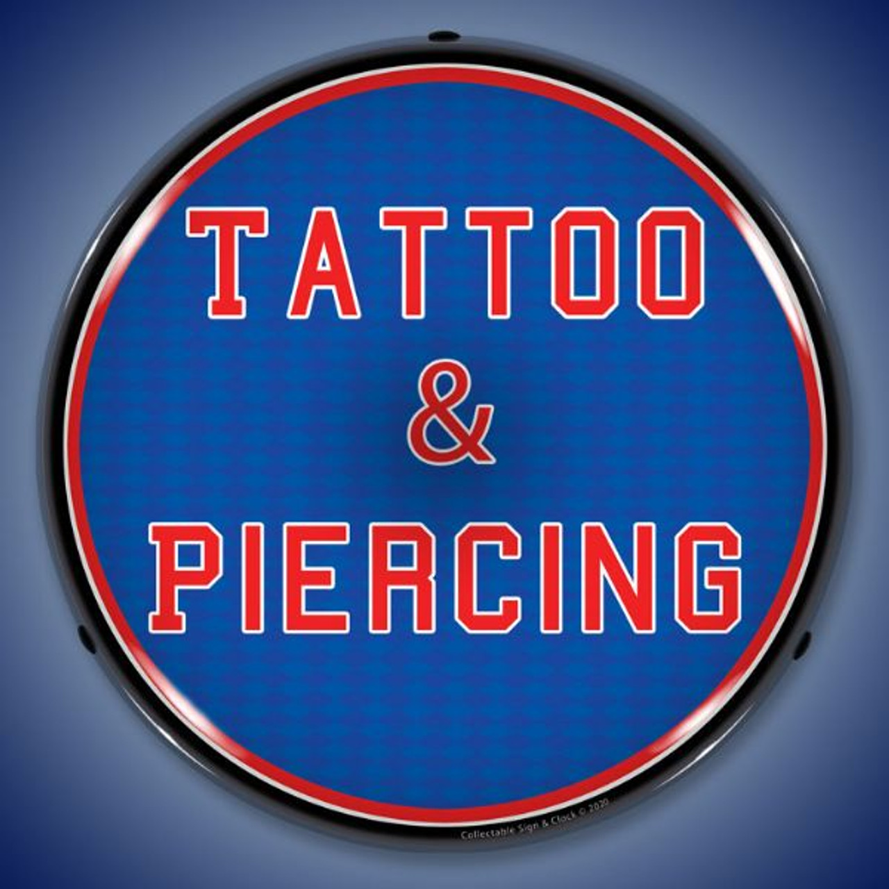 Tattoo & Piercing LED Lighted Business Sign 14 x 14 Inches
