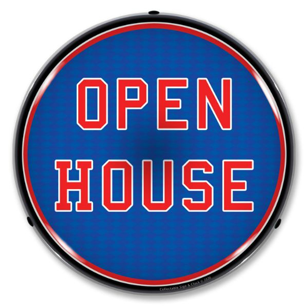 Open House LED Lighted Business Sign 14 x 14 Inches