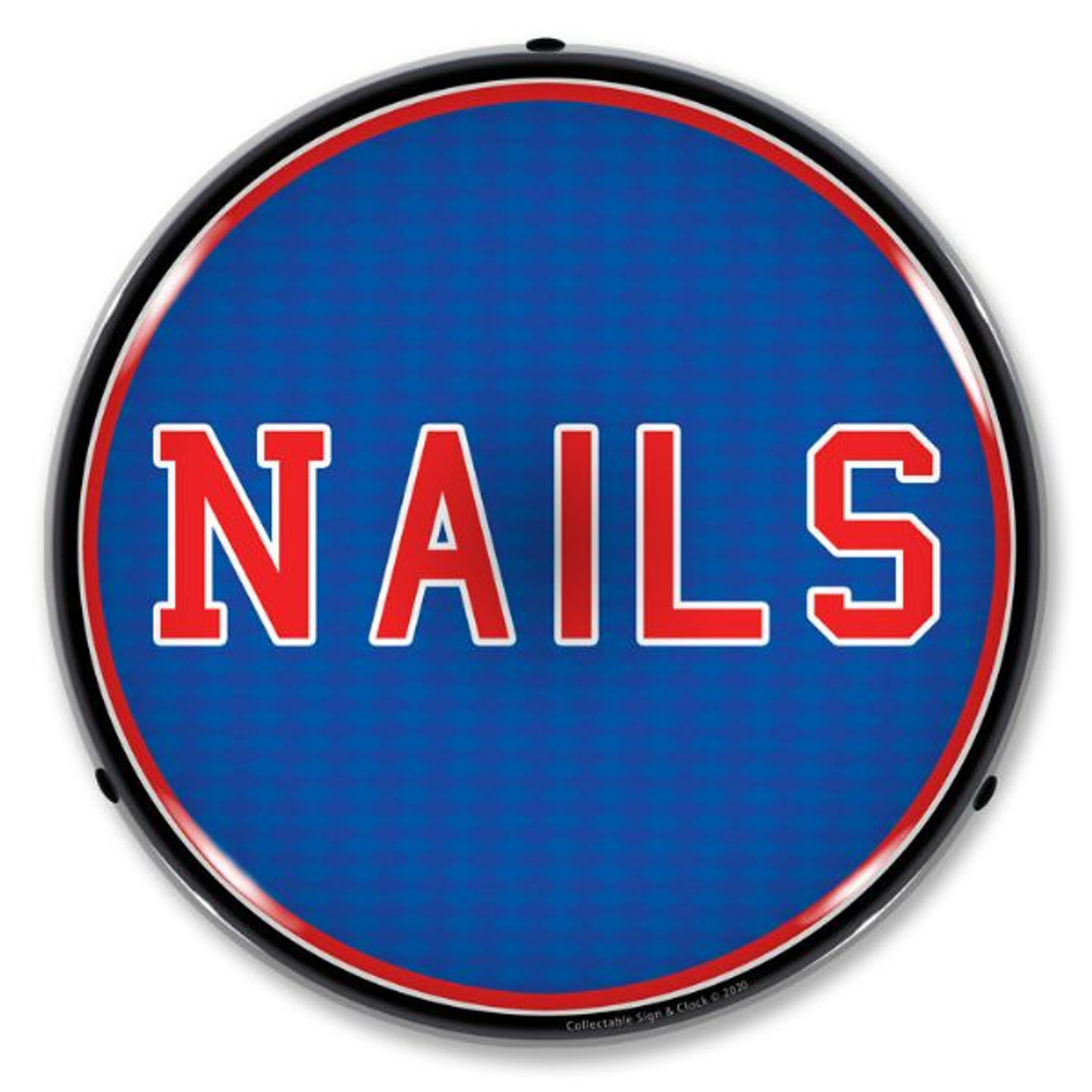 Nails LED Lighted Business Sign 14 x 14 Inches
