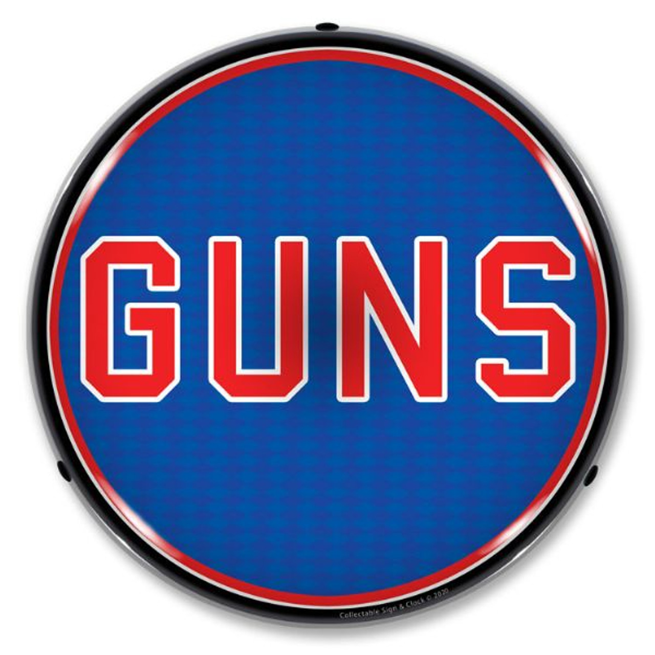 Guns LED Lighted Business Sign 14 x 14 Inches