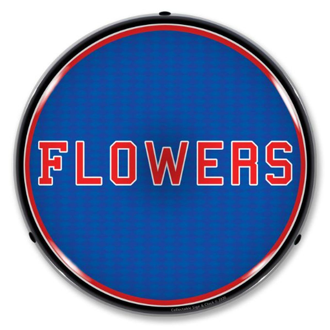 Flowers LED Lighted Business Sign 14 x 14 Inches