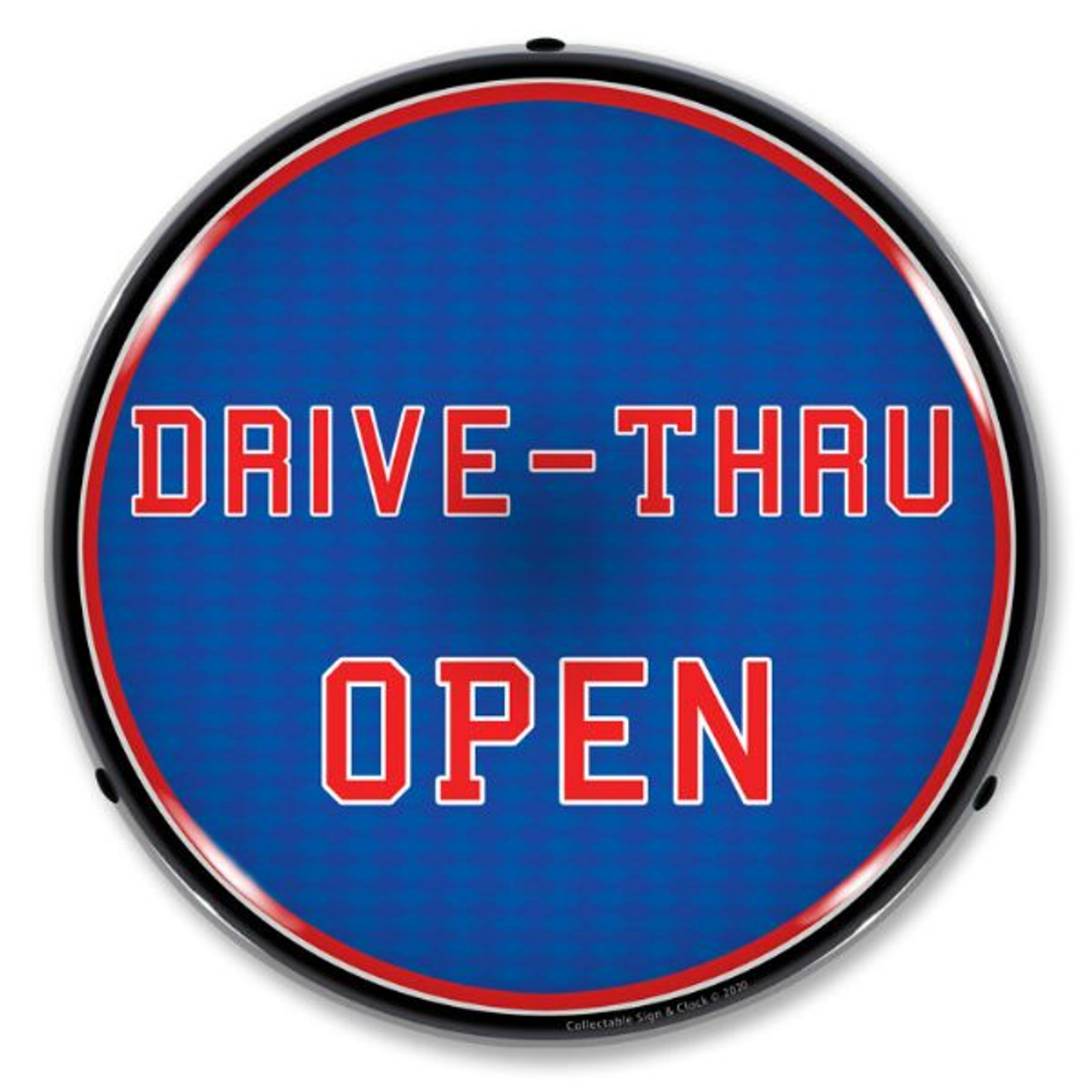 Drive-Thru Open LED Lighted Business Sign 14 x 14 Inches