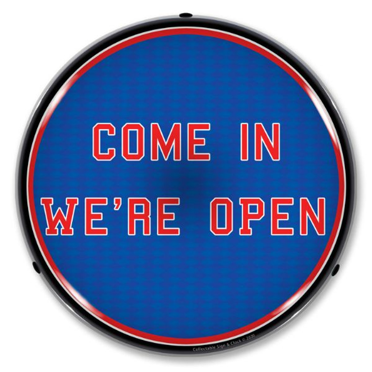 Come in Were Open LED Lighted Business Sign 14 x 14 Inches