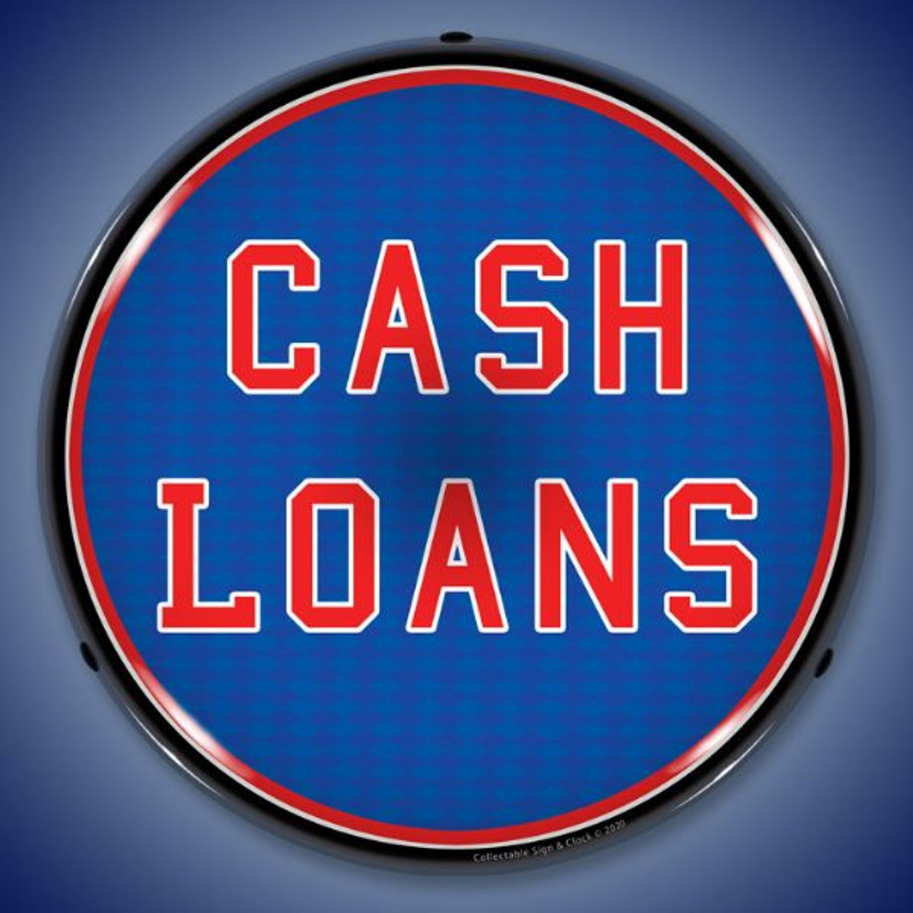 Cash Loans LED Lighted Business Sign 14 x 14 Inches