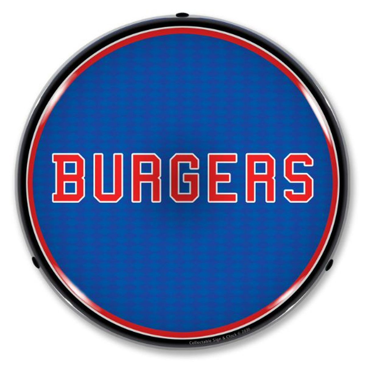 Burgers LED Lighted Business Sign 14 x 14 Inches