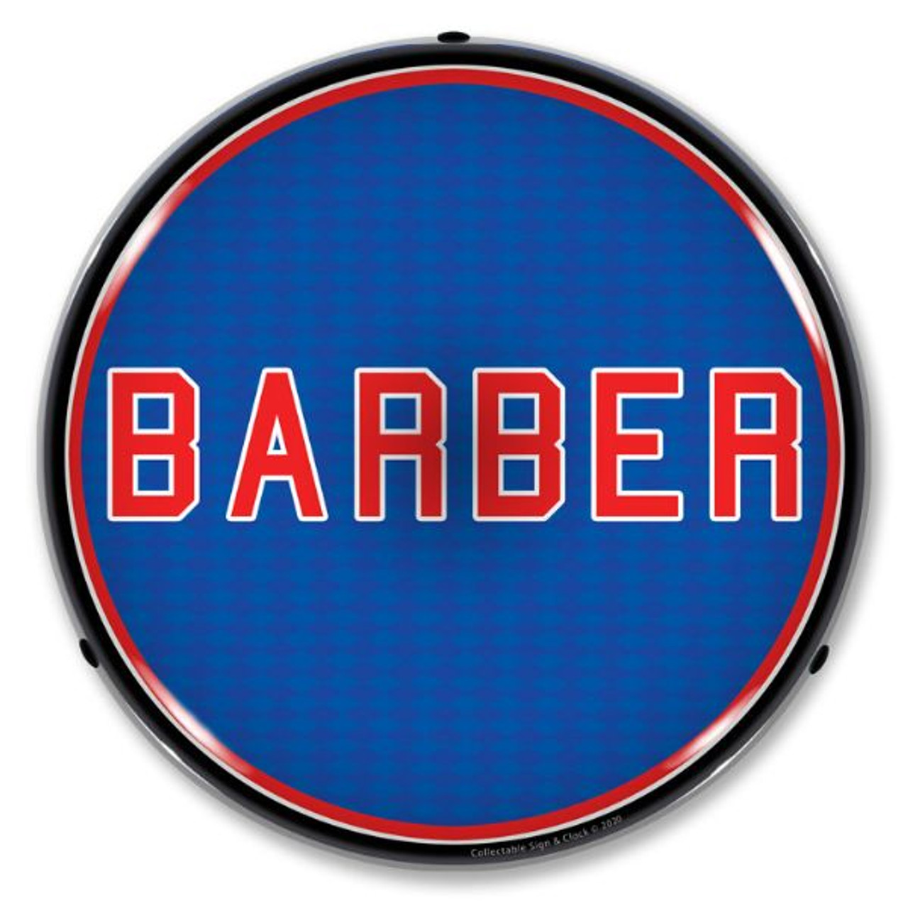 Barber LED Lighted Business Sign 14 x 14 Inches