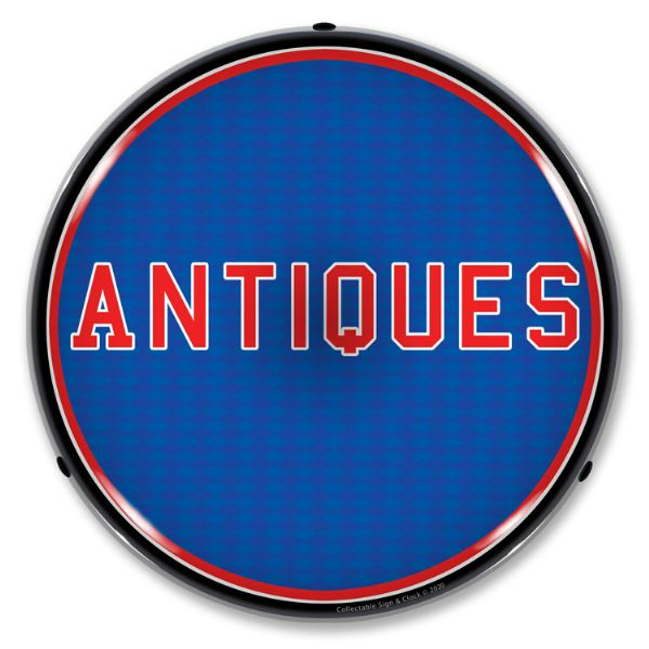 Antiques LED Lighted Business Sign 14 x 14 Inches