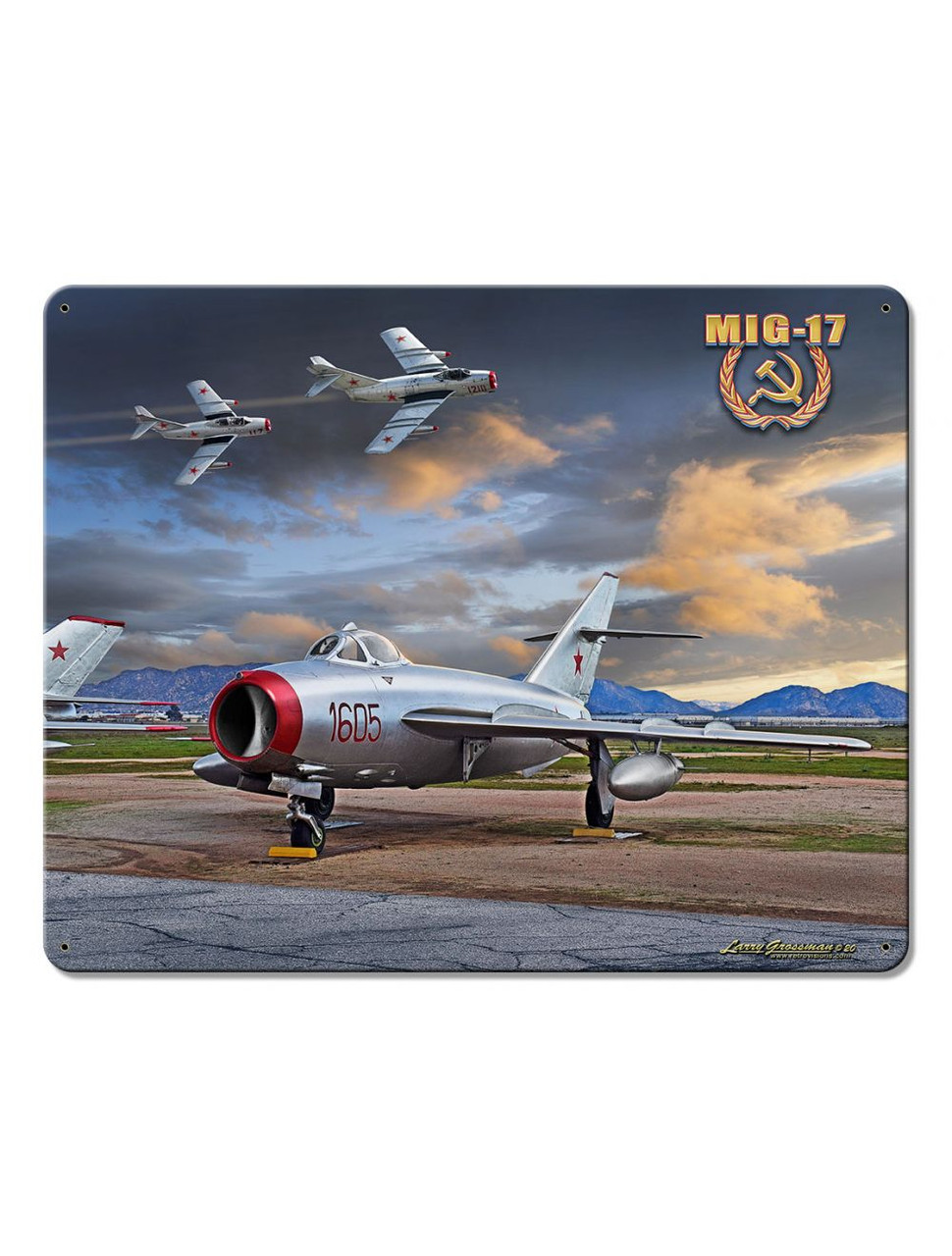 MIG 15 Metal Sign 15 x 12 Inches