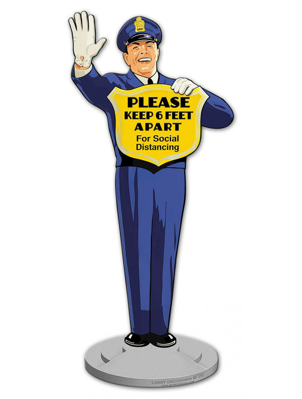 Guard Social Distancing Metal Sign 8 x 18 Inches