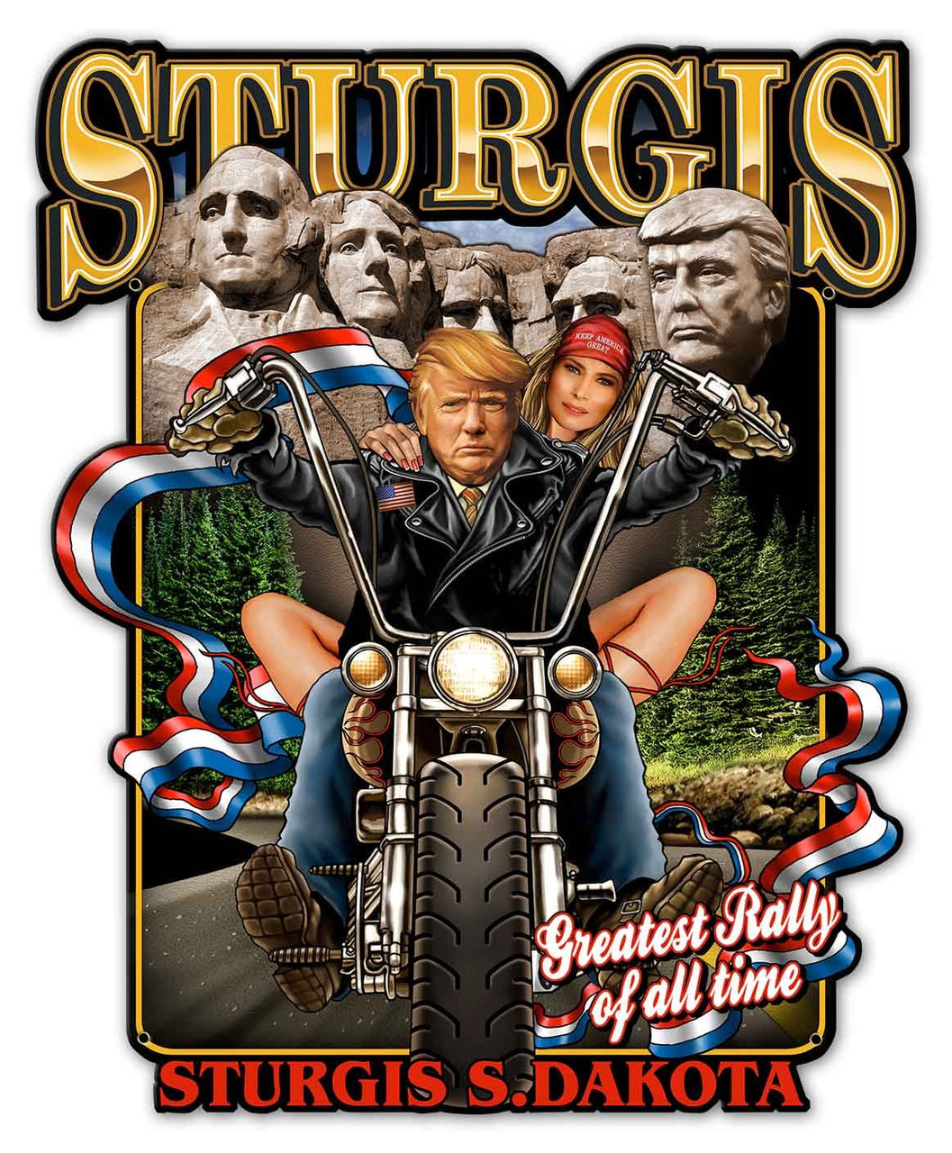 Sturgis Rally Metal Sign 18 x 22 Inches