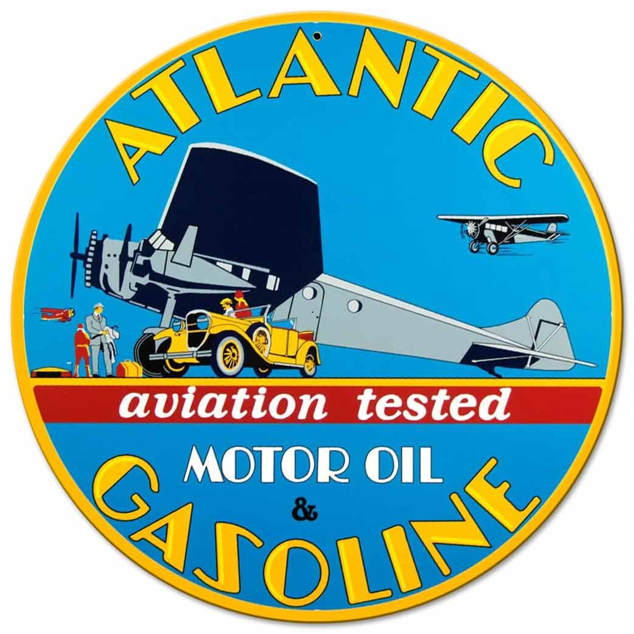 Atlantic Gas Metal Sign 14 x 14 Inches