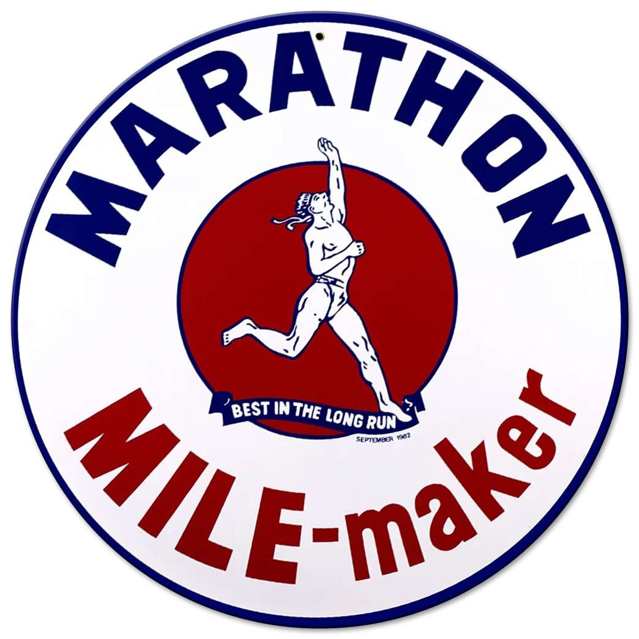 Marathon Metal Sign 14 x 14 Inches