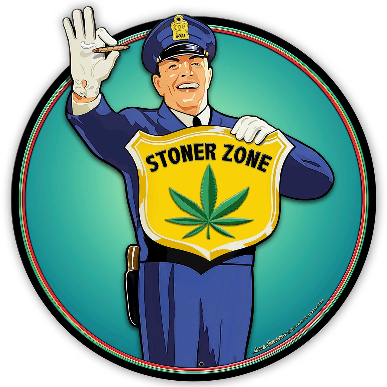 Guard Stoner Zone Metal Sign 28 x 28 Inches