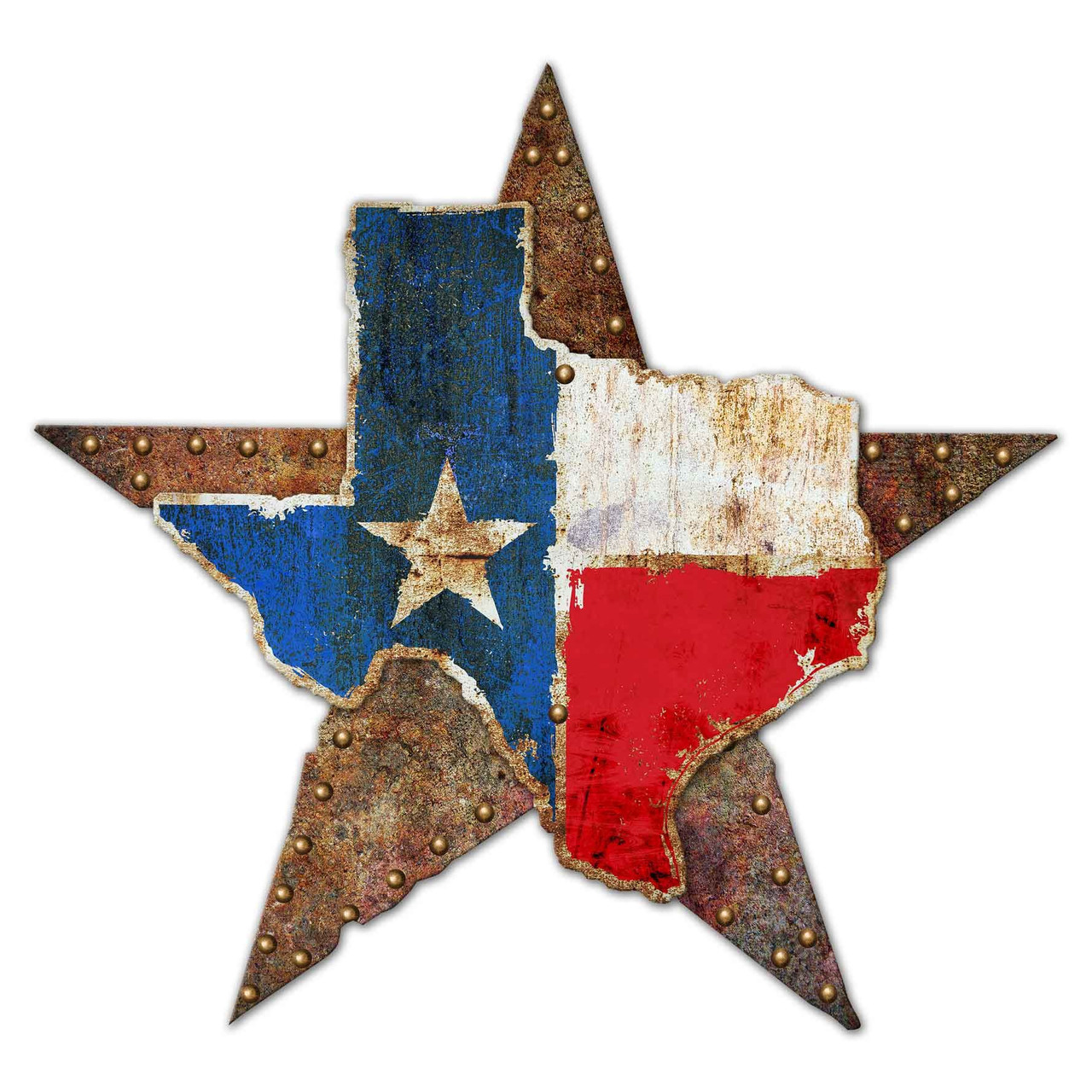 3-D Texas Star Rustic Sign 36 x 36 Inches