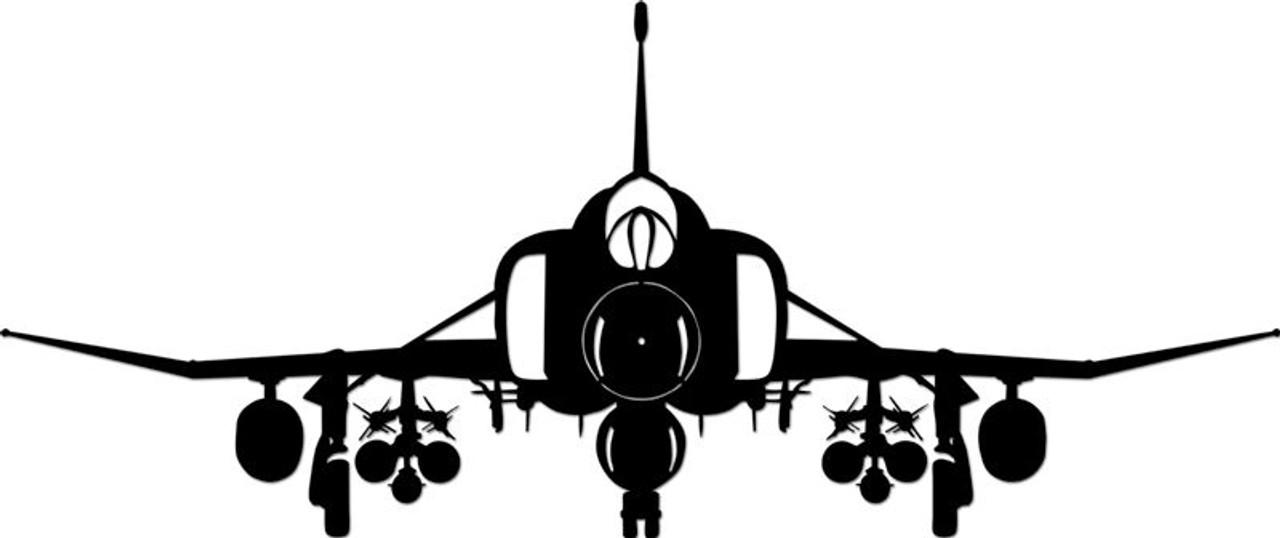 Phantom Plane Silhouette Metal Sign 36 x 13 Inches