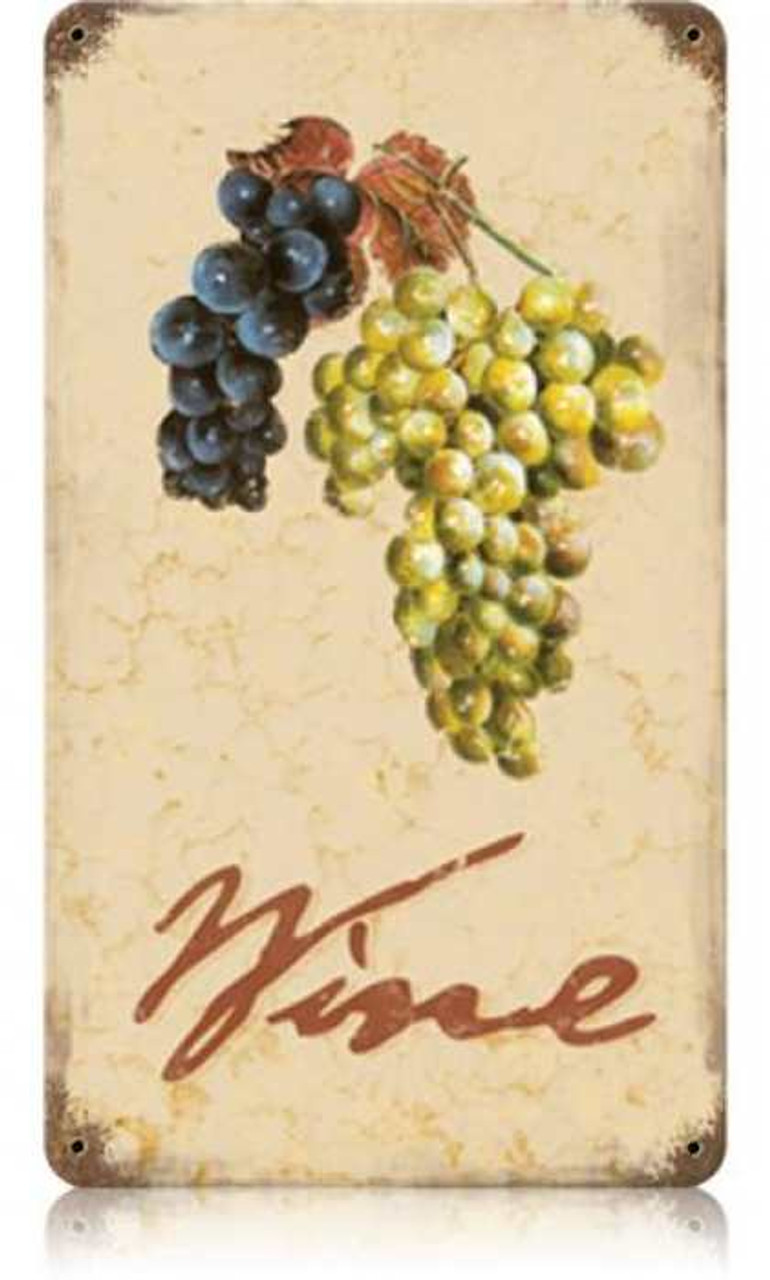 Vintage Wine Cellar Metal Sign 8 x 14 Inches