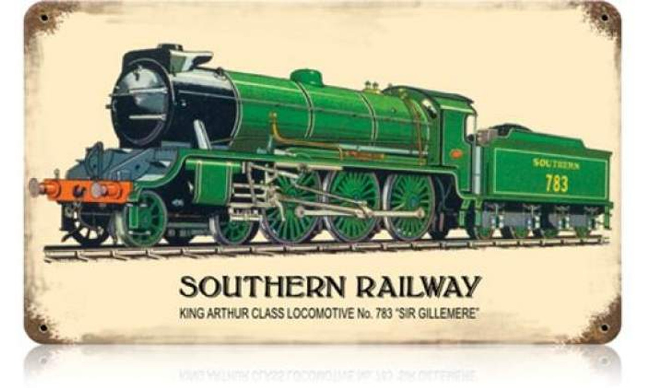 Retro Southern Railway Metal Sign 14 x 8 Inches