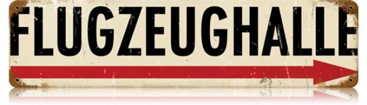 Retro Flugzeughalle Metal Sign 20 x 5 inches
