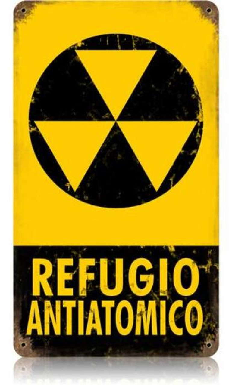 Vintage Refugio Metal Sign 8 x 14 Inches