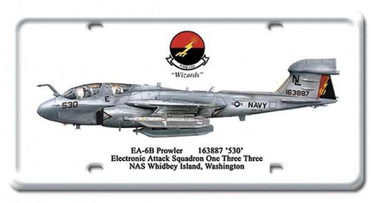 Vintage EA-6B Prowler License Plate 6 x 12 Inches