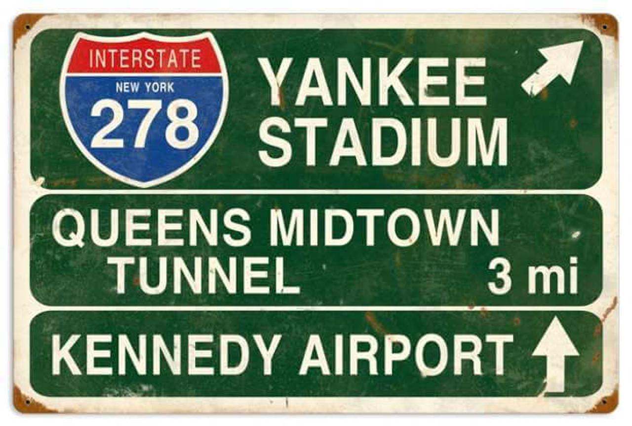 Yankee Stadium Metal Sign 22 x 16 Inches