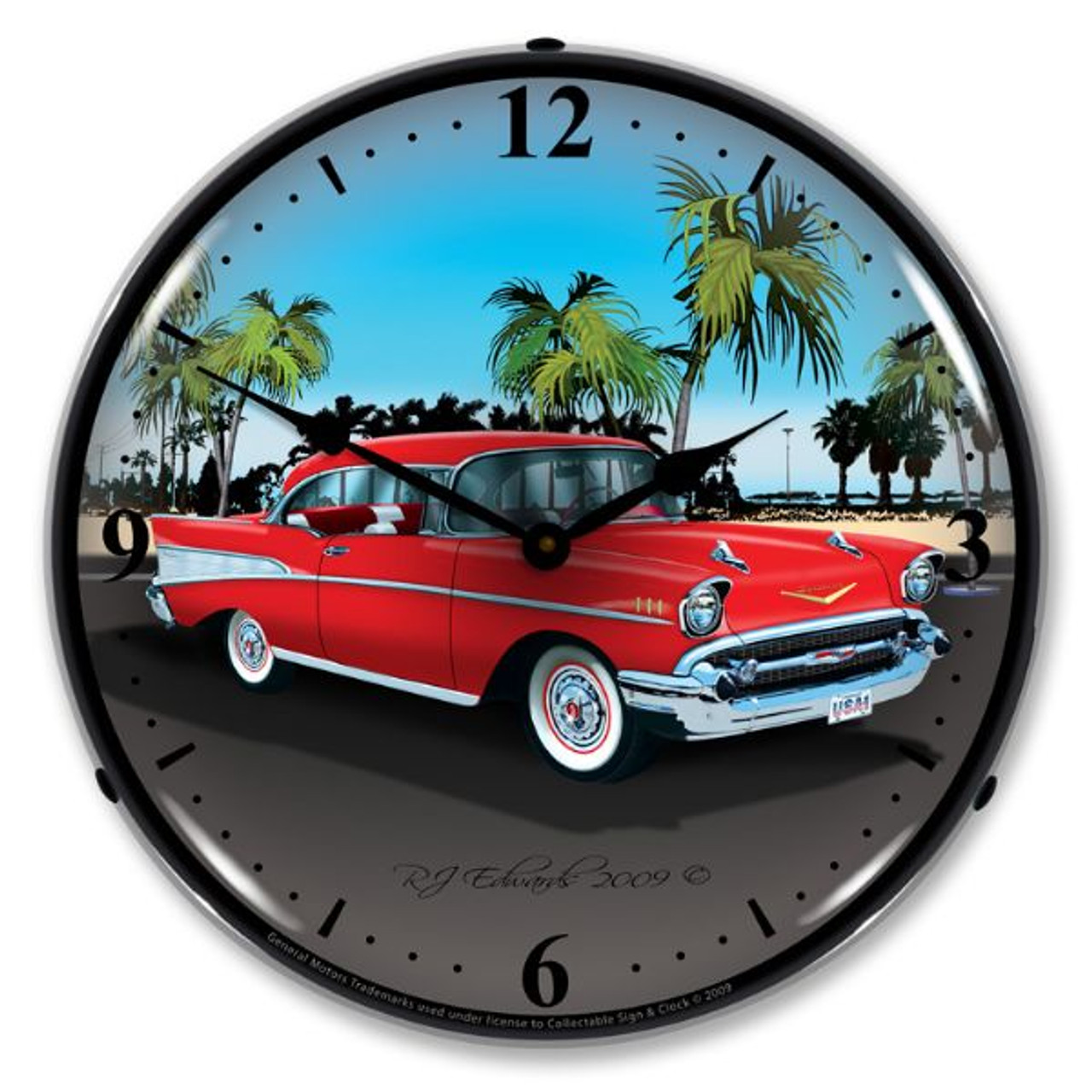 1957 Chevy Lighted Wall Clock