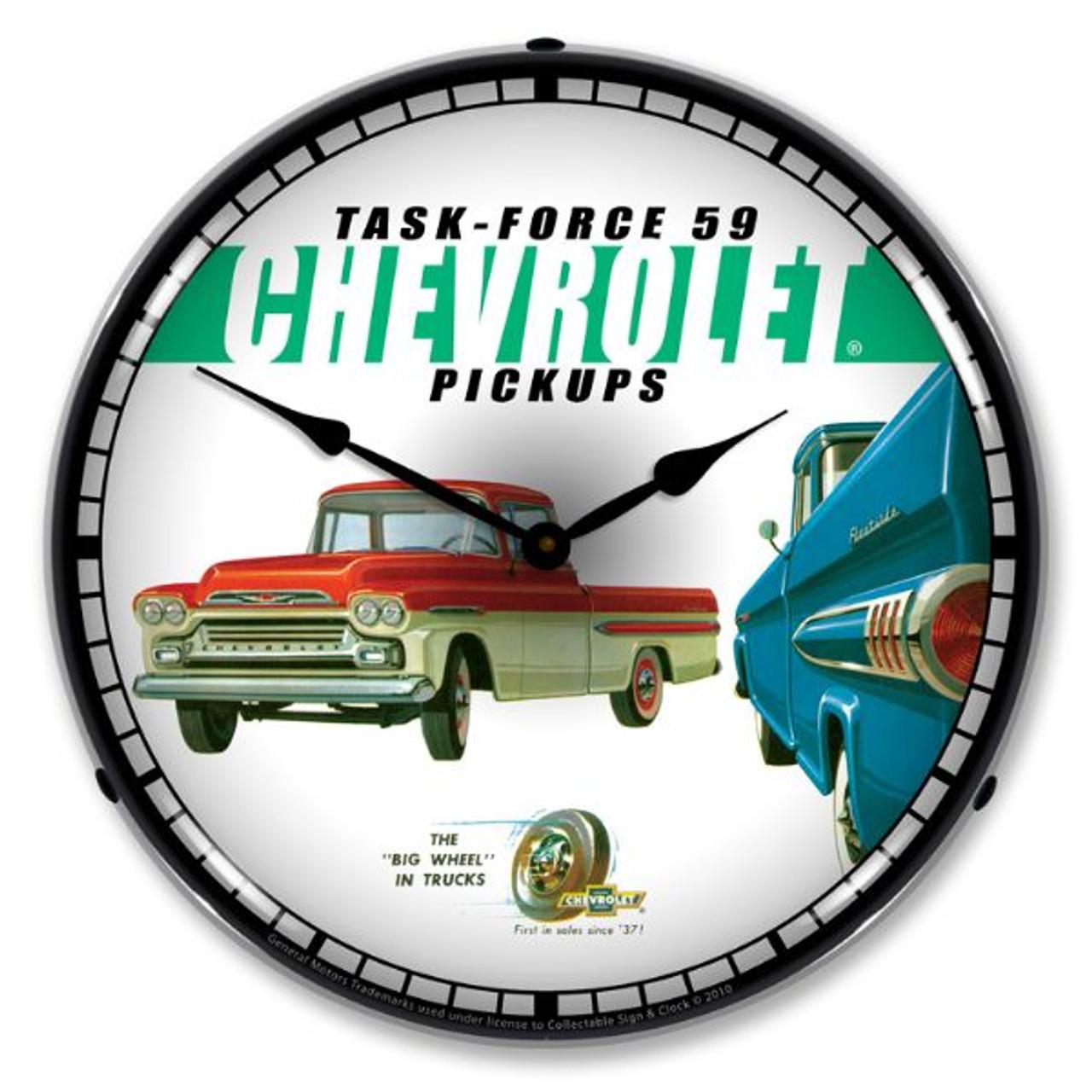 1959 Chevrolet Pickup Lighted Wall Clock