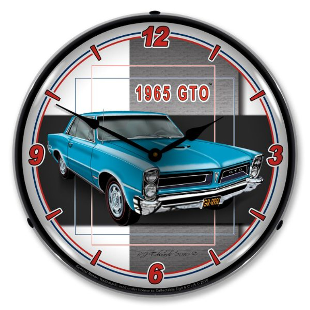1965  GTO Lighted Wall Clock
