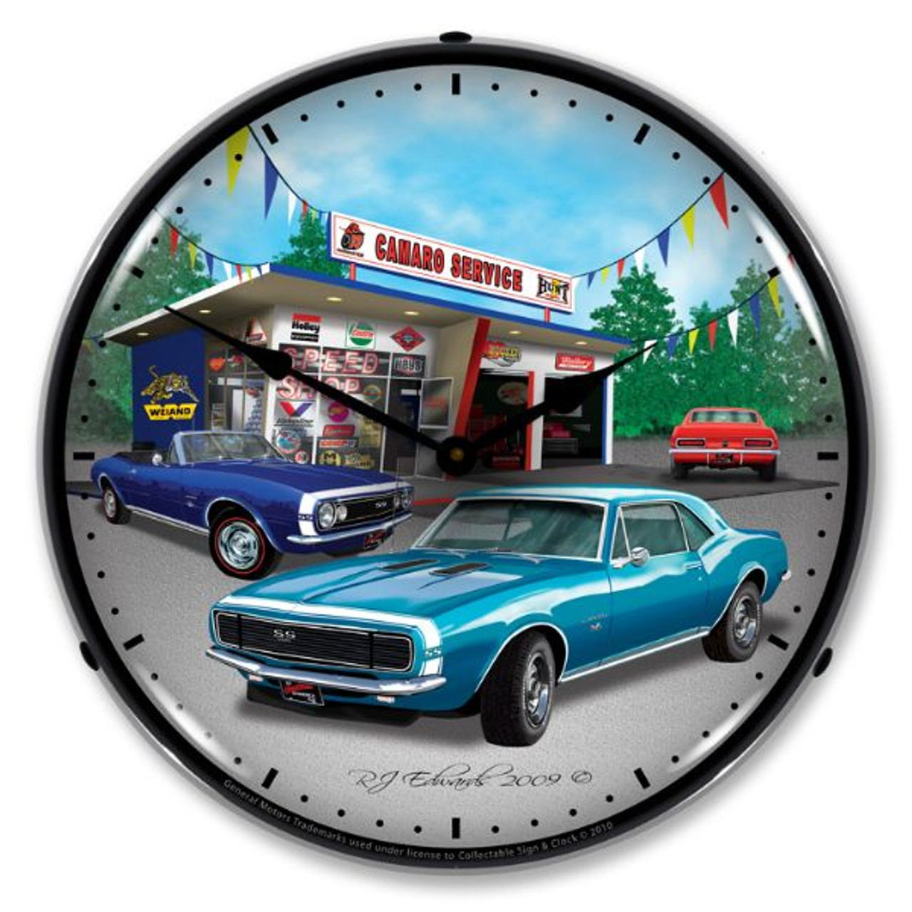 1967 Camaro Lighted Wall Clock