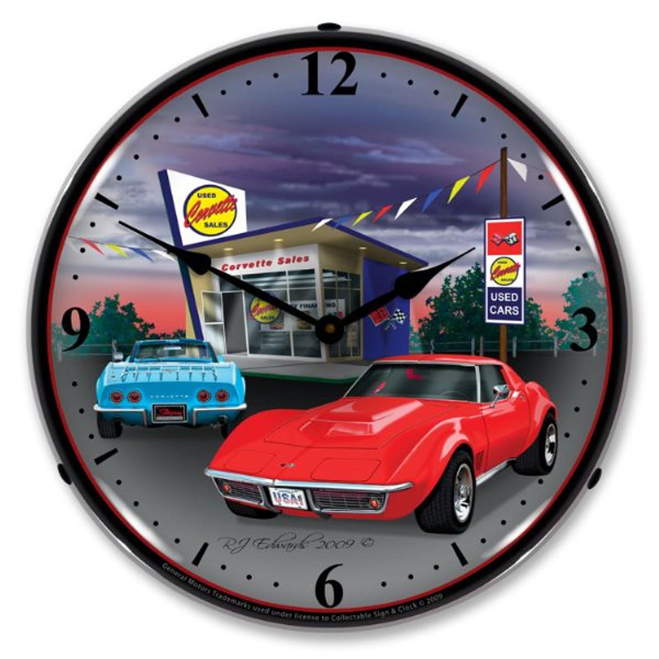1968 Corvette Lighted Wall Clock