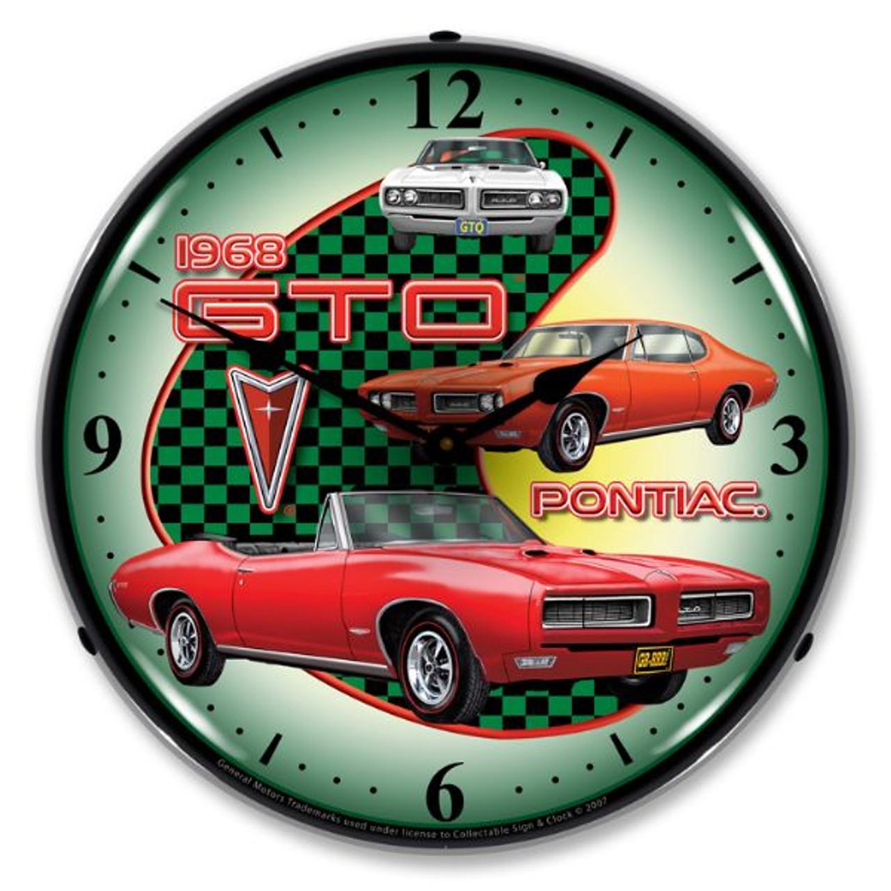 1968 Pontiac GTO Lighted Wall Clock